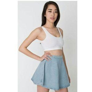 American Apparel Light Wash Skater Skirt